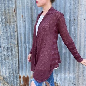 Knox Rose | plum knit waterfall cardigan